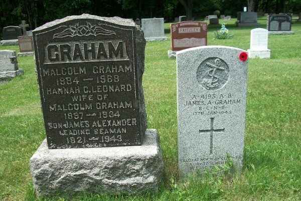 Family gravemarker– He is also mentioned on the family marker - photo courtesy of Marg Liessens
