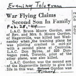 Newspaper Clipping– Newspaper clipping from the Totonto 'Evening Telegram'.