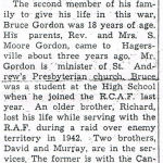 Newspaper Clipping– Newspaper clipping from the 'Hagersville Press' (Part 2).