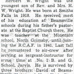 Newspaper Clipping– Newspaper clipping from the 'Hagersville Press' (Part 3).