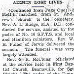 Newspaper Clipping– Newspaper clipping from the 'Hagersville Press' (Part 4).