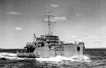 H.M.C.S. Esquimalt– HMCS ESQUIMALT was operating with its sister ship HMCS SARNIA just off the east of coast near Halifax when, at 6:20 in the morning of 16 April 1945, it was struck by a torpedo from a German submarine and sank so quickly it could not send out a distress call...Her seaboat was smashed and two of her six carley floats were useless, so those who could scramble from the fast-sinking vessel crowded into the four remaining floats.  Many died in the first two hours while comrades watched helplessly.  All were close to death.  On one float, five of six men survived but on another only 12 out of 20 were alive when rescue came...As men died, their bodies were slipped overboard so that survivors in the water could get aboard the float. [The torpedo, designed to inflict severe damage on larger vessels, destroyed the small mine sweeper.] A Halifax despatch said this was the second time within a few months that daring German raiders made their way through navy patrols to come practically within gunshot range of the port.  In May, after the war with Germany had ended, a despatch said patrols would continue as an untold number of U-boats still were lurking in the North Atlantic and their fanatical commanders could strike one last blow before their fuel and food ran out.  The commanding officer of U-190 surrendered to corvettes HMCS THORLOCK and VICTORIAVILLE on the 12th. [From the page dedicated to AS Donald White in the book Gananoque Remembers authored by Bill Beswetherick and Geraldine Chase.]