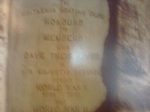 Memorial– In 1949, the Britannia Boating Club Memorial Park Association was formed to honour Club members killed overseas. An acre of land was purchased at Baskin's Beach on the Ottawa River. A cairn and flagpole was erected and a brass plaque honouring fallen members was attached to the plaque. The brass plaque states 'the Britannia Boating Club honours its members who gave their lives in his majesty's service during World War I 1914-1918 and World War II 1939-1945.' Landscaping was added in 1997. The Britannia Boating Club was renamed the Britannia Yacht Club (BYC). The Britannia Yacht Club (2777 Cassels Street Ottawa K2B 6N6) maintains the memorial park and cairn. The memorial park remains a popular camping area for Club members.