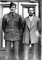 Photo of Cecil Raymond Butters– Cecil and his father.  Submitted for the project, Operation Picture Me