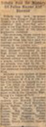 Newspaper Clipping– Obituary text