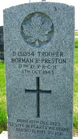 Grave Marker– Headstone in Howick, QC, May 2014