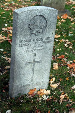 Pierre Tombale – Stèle funéraire dans le cimetière Notre-Dame-de-Belmont, à Québec.