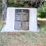 Memorial Plaque on Black Mountain– A picture of the memorial plaque erected at the site of the crash that took the lives of 24 Canadians.