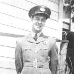 Photo of Peter William Merrick– Peter Merrick was born in London and raised by his grandmother, Mrs. Jane Morrison of 27 Elm Street. He attended Alexander Public School and Central Collegiate. He joined the RCAF on July 19, 1942 in London and went on course at Jarvis Bombing and Gunnery School. He graduated from the #4 Air Observers School, London and was commissioned. He was on his tenth operation as a member of a Lancaster crew of #419 Moose Squadron on a night mission to bomb a target south of Caen.