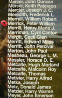 Memorial– Flying Officer Peter William Merrick is also commemorated on the Bomber Command Memorial Wall in Nanton, AB … photo courtesy of Marg Liessens