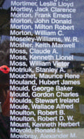 Memorial– Warrant Officer Class II Stanley Arcadie Motriuk is also commemorated on the Bomber Command Memorial Wall in Nanton, AB … photo courtesy of Marg Liessens
