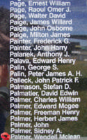 Memorial– Flying Officer Wendell McLean Palmer is commemorated on the Bomber Command Memorial Wall in Nanton, AB … photo courtesy of Marg Liessens