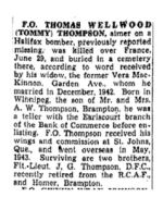Newspaper Clipping– The Toronto Star, February 10, 1945, page 16