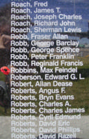 Memorial– Flight Sergeant Max Feindel Robbins is also commemorated on the Bomber Command Memorial Wall in Nanton, AB … photo courtesy of Marg Liessens