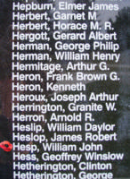 Memorial– Observer William John Hesp is also commemorated on the Bomber Command Memorial Wall in Nanton, AB … photo courtesy of Marg Liessens