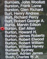 Memorial– Flying Officer Earl Allen Burton is also commemorated on the Bomber Command Memorial Wall in Nanton, AB … photo courtesy of Marg Liessens