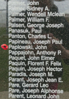 Memorial– Warrant Officer Class II John Paplowski is also commemorated on the Bomber Command Memorial Wall in Nanton, AB … photo courtesy of Marg Liessens
