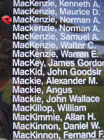 Memorial– Warrant Officer Class II Norman Alexander Freeman MacKenzie is also commemorated on the Bomber Command Memorial Wall in Nanton, AB … photo courtesy of Marg Liessens