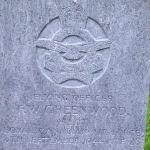 Grave marker– Photo taken 21st October 2007.