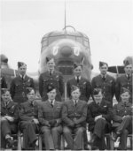 Group Photo– Ernest Stollery (back row, 4th from left) RCAF Squadron, England 1941/2