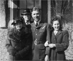 Family Photo– Ernest Stollery with his fiance Bernice, and his parents Kate and William Stollery at the Stollery home on 76th Avenue in Edmonton, Alberta