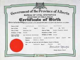 Certificat de naissance – Soumis dans le cadre du projet: Operation Picture Me