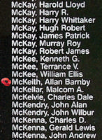 Memorial– Flight Sergeant Allan Barnby McKeith is also commemorated on the Bomber Command Memorial Wall in Nanton, AB … photo courtesy of Marg Liessens