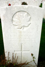 Grave Marker– A photograph of the headstone at the Orchard Dump Cemetery. May he rest in peace.(J.Stephens)