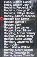 Memorial– Flight Sergeant Earl Edwin Hopper is also commemorated on the Bomber Command Memorial Wall in Nanton, AB … photo courtesy of Marg Liessens