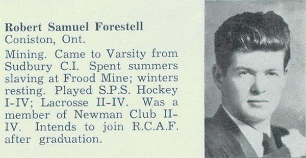 Biography– Entry from Torontonensis, University of Toronto's yearbook, 1942.