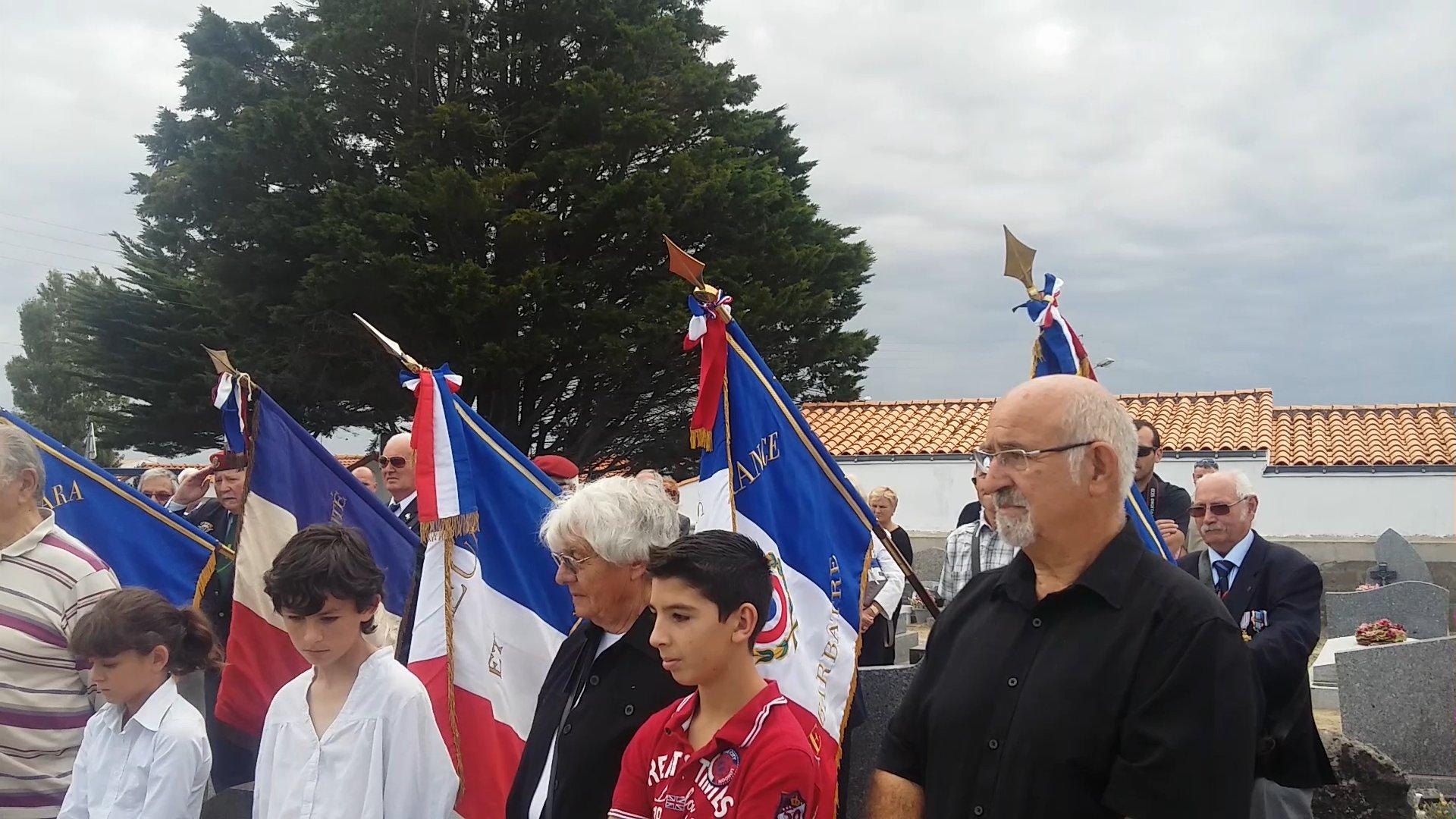Photos of the commemorative ceremony on August 8, 2015, in Barbâtre, Île de Noirmoutier, France.
