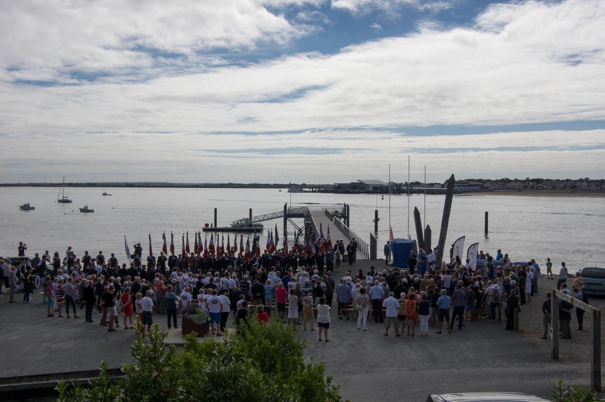 Photo of the commemorative ceremony on August 6, 2016, in Barbâtre, Île de Noirmoutier, France.