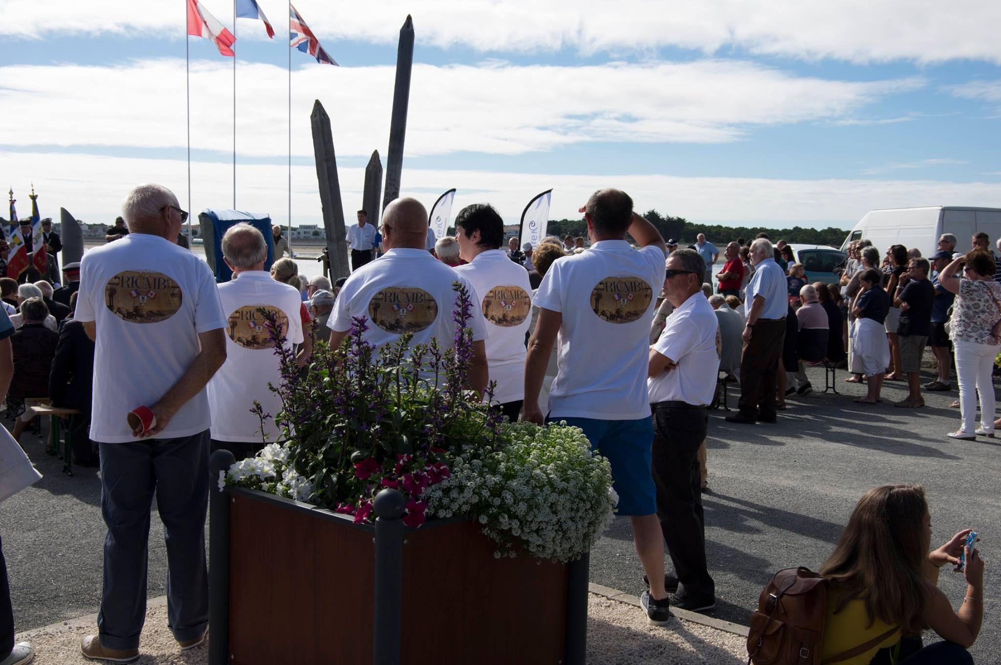 Ceremony– Photo of the commemorative ceremony on August 6, 2016, in Barbâtre, Île de Noirmoutier, France.