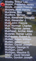 Memorial– Flying Officer Frederick Henry Moxon is also commemorated on the Bomber Command Memorial Wall in Nanton, AB … photo courtesy of Marg Liessens
