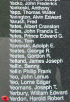 Memorial– Flight Sergeant Harold Robert Joseph Yerdon is also commemorated on the Bomber Command Memorial Wall in Nanton, AB … photo courtesy of Marg Liessens