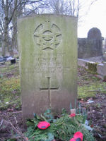 Grave Marker– This is a photo of Gordon Belec's headstone in Ashbourne Cemetery Derbyshire