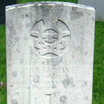 Grave Marker– Grave of Flt. Sgt. John Richard Griffin, Buxton Cemetery