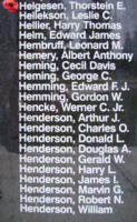 Memorial– Flight Sergeant Thorstein Enevold Helgesen is also commemorated on the Bomber Command Memorial Wall in Nanton, AB … photo courtesy of Marg Liessens