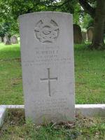 Grave Marker– This is Herbert Ibbott's grave marker at Bedford Cemetery.