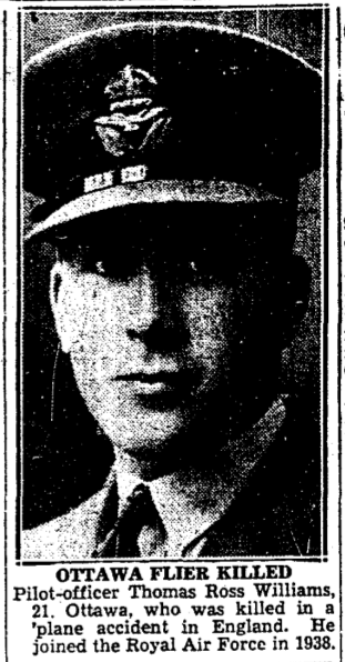 Newspaper clipping– From the Toronto Star November 1939. Submitted for the project Operation Picture Me
