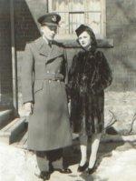 Photo of James S. Brydon– James Stenhouse Brydon and Joan Gilmour (fiancee). Photo taken at 62 Duggan Avenue Toronto on February 23, 1942.