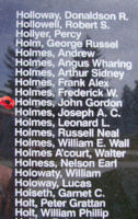 Memorial– Flight Sergeant John Gordon Holmes is also commemorated on the Bomber Command Memorial Wall in Nanton, AB … photo courtesy of Marg Liessens