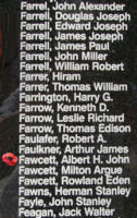 Memorial– Pilot Officer Albert John Fawcett is also commemorated on the Bomber Command Memorial Wall in Nanton, AB … photo courtesy of Marg Liessens