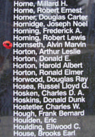 Memorial– Flight Sergeant Alvin Marvin Hornseth is also commemorated on the Bomber Command Memorial Wall in Nanton, AB … photo courtesy of Marg Liessens
