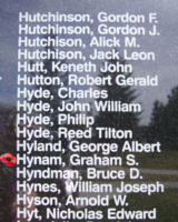 Memorial– Flying Officer Graham Stanley Hynam is also commemorated on the Bomber Command Memorial Wall in Nanton, AB … photo courtesy of Marg Liessens