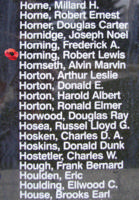 Memorial– Sergeant Robert Lewis Horning is also commemorated on the Bomber Command Memorial Wall in Nanton, AB … photo courtesy of Marg Liessens