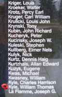 Memorial– Sergeant William Thomas Kyle is also commemorated on the Bomber Command Memorial Wall in Nanton, AB … photo courtesy of Marg Liessens