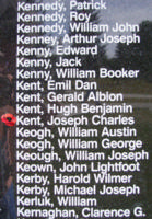 Memorial– Sergeant Joseph Charles Kent is also commemorated on the Bomber Command Memorial Wall in Nanton, AB … photo courtesy of Marg Liessens