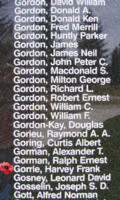 Memorial– Sergeant Harvey Frank Gorrie is also commemorated on the Bomber Command Memorial Wall in Nanton, AB … photo courtesy of Marg Liessens