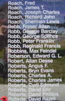 Memorial– Warrant Officer David Razell Roberts is also commemorated on the Bomber Command Memorial Wall in Nanton, AB … photo courtesy of Marg Liessens